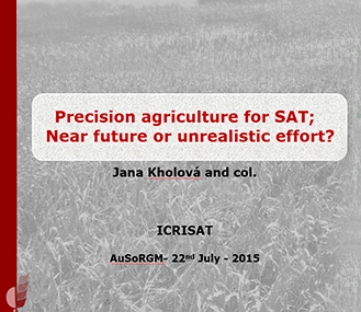 Precision agriculture for SAT:   Near future or unrealistic effort?