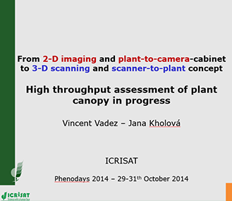 From 2-D imaging and plant-to-camera-cabinet  to 3-D scanning and scanner-to-plant concept