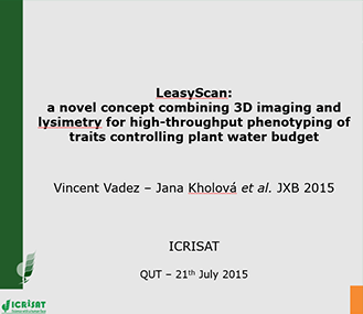 LeasyScan:  A novel concept combining 3D imaging and lysimetry for high-throughput phenotyping of traits controlling plant water budget