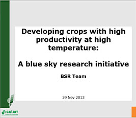 Developing crops with high productivity at high temperature