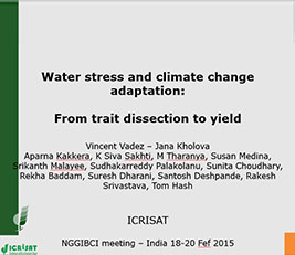 Water stress and climate change adaptation